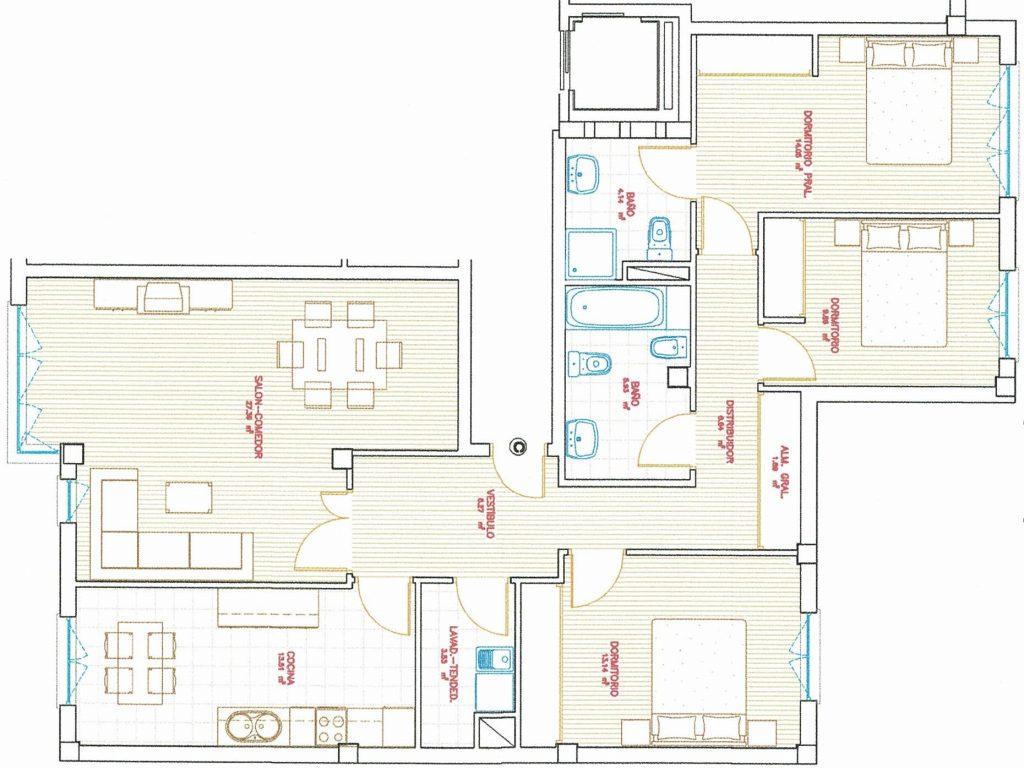 Piso de 4 dormitorios, Augas Férreas